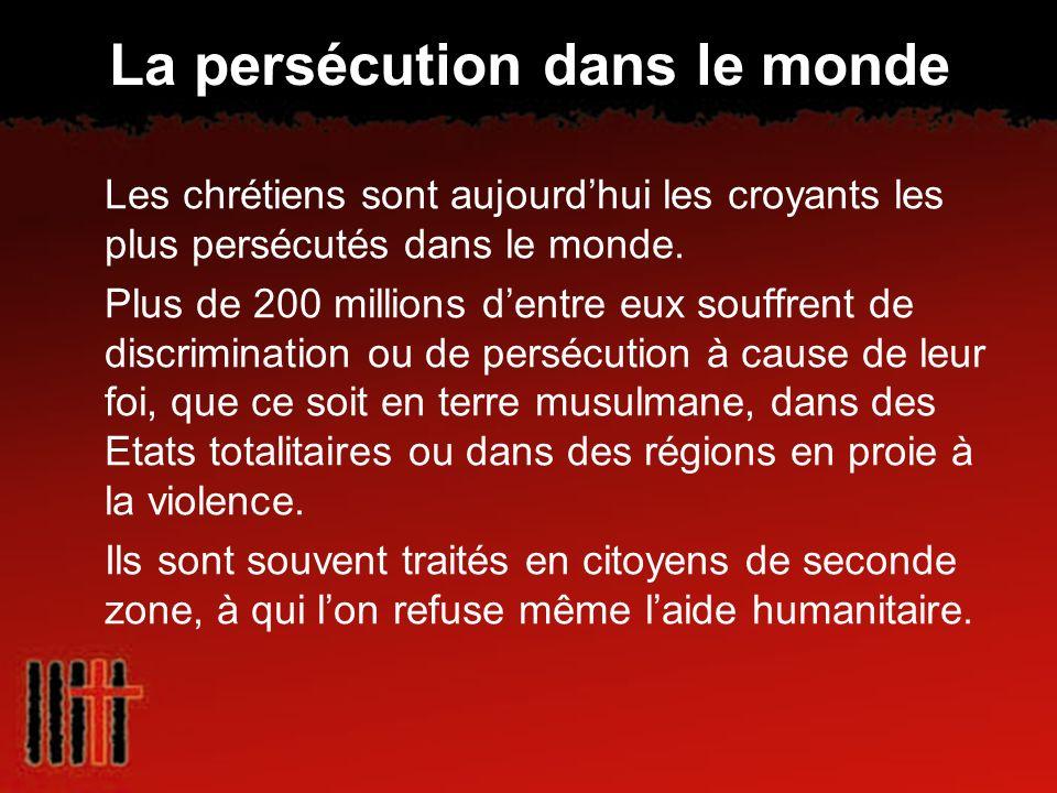 La persécution dans le monde