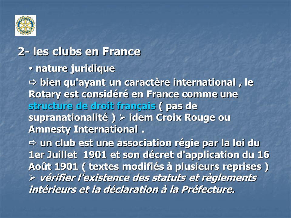 2- les clubs en France  nature juridique