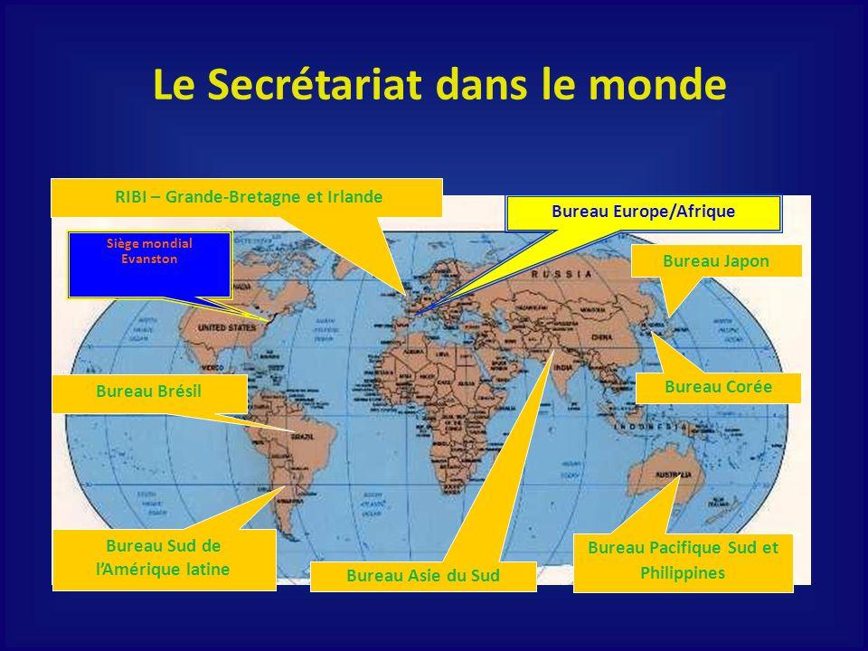 Le Secrétariat dans le monde