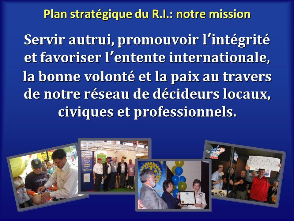 Plan stratégique du R.I.: notre mission