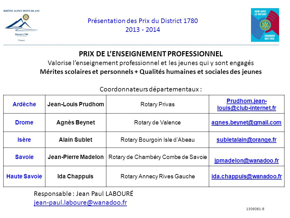 PRIX DE L'ENSEIGNEMENT PROFESSIONNEL