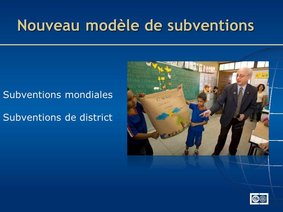 Nouveau modèle de subventions