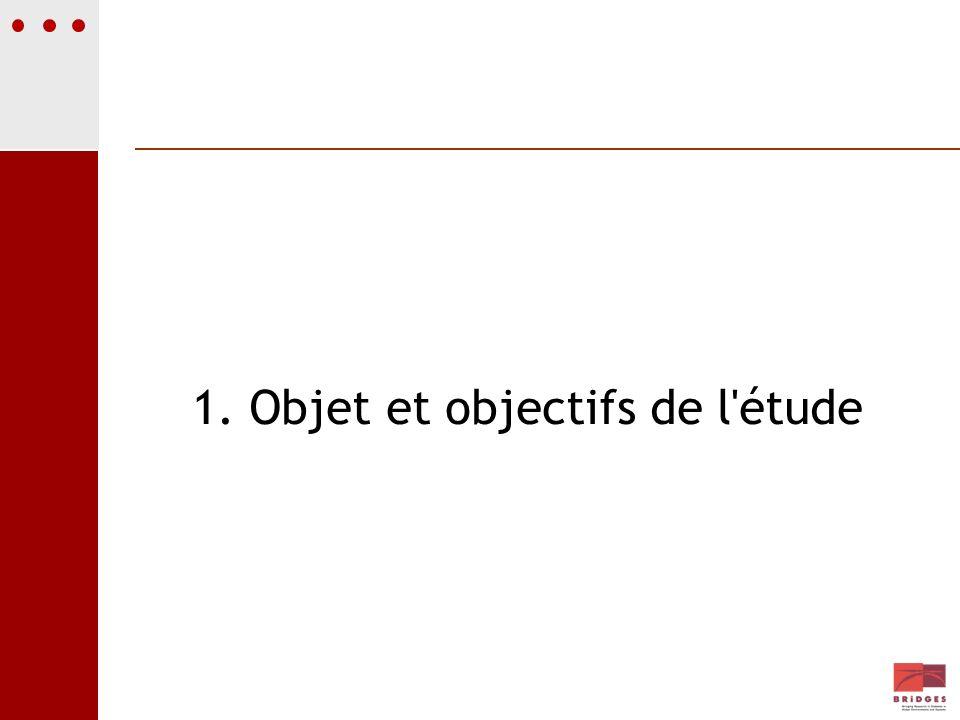 1. Objet et objectifs de l étude
