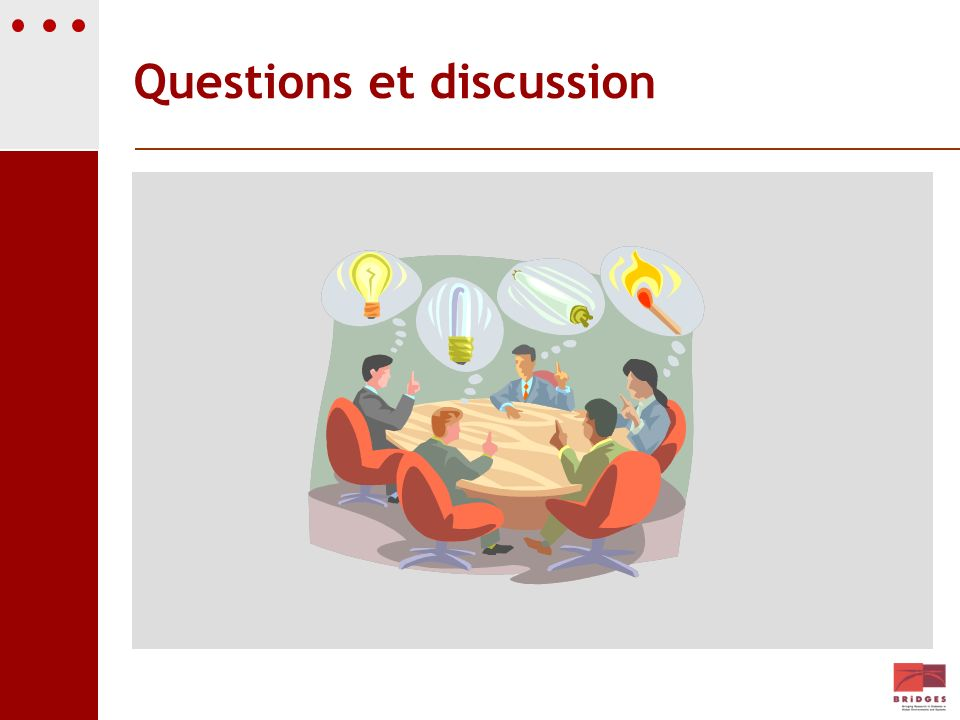 Questions et discussion