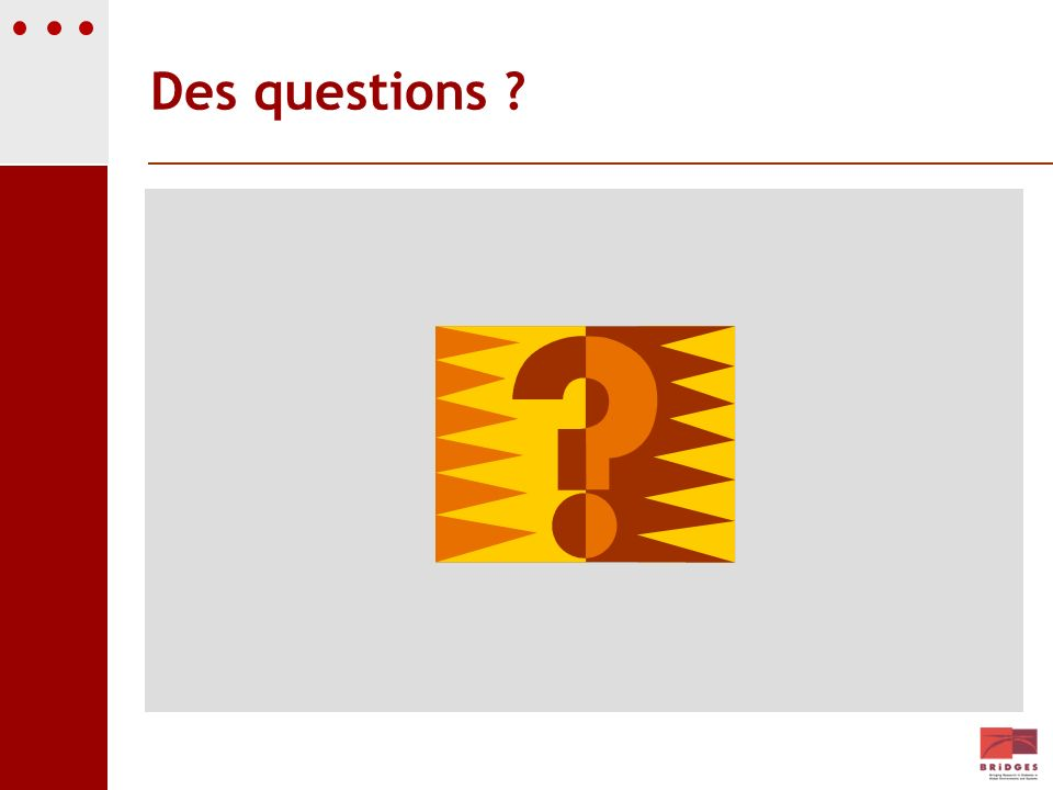 Des questions Par exemple
