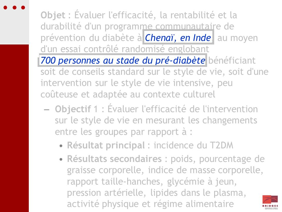 Résultat principal : incidence du T2DM