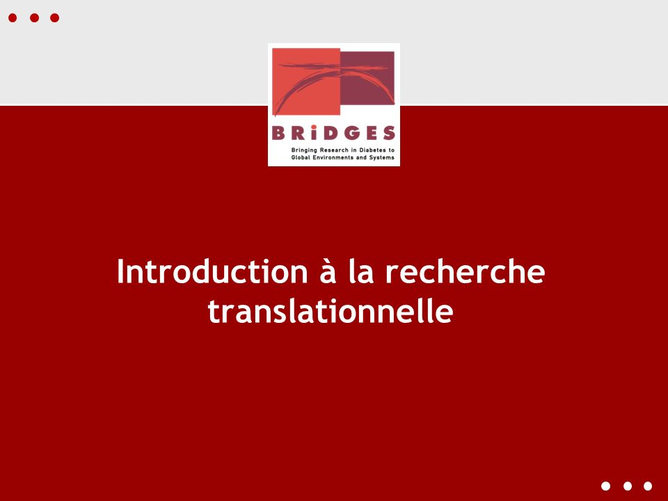 Introduction à la recherche translationnelle