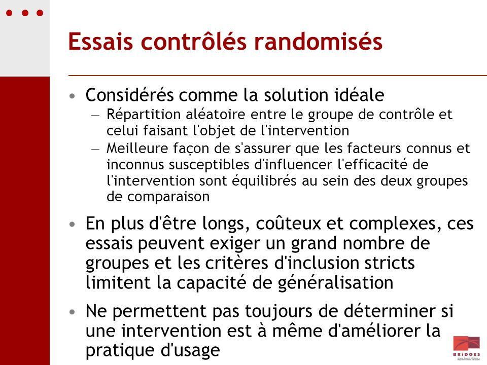 Essais contrôlés randomisés
