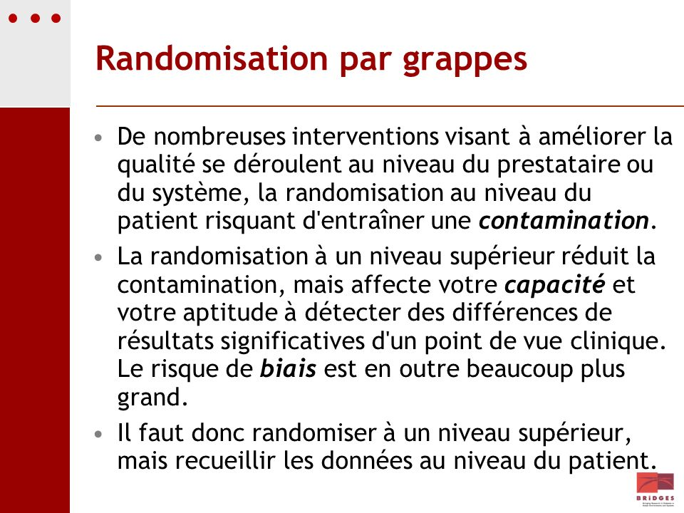 Randomisation par grappes