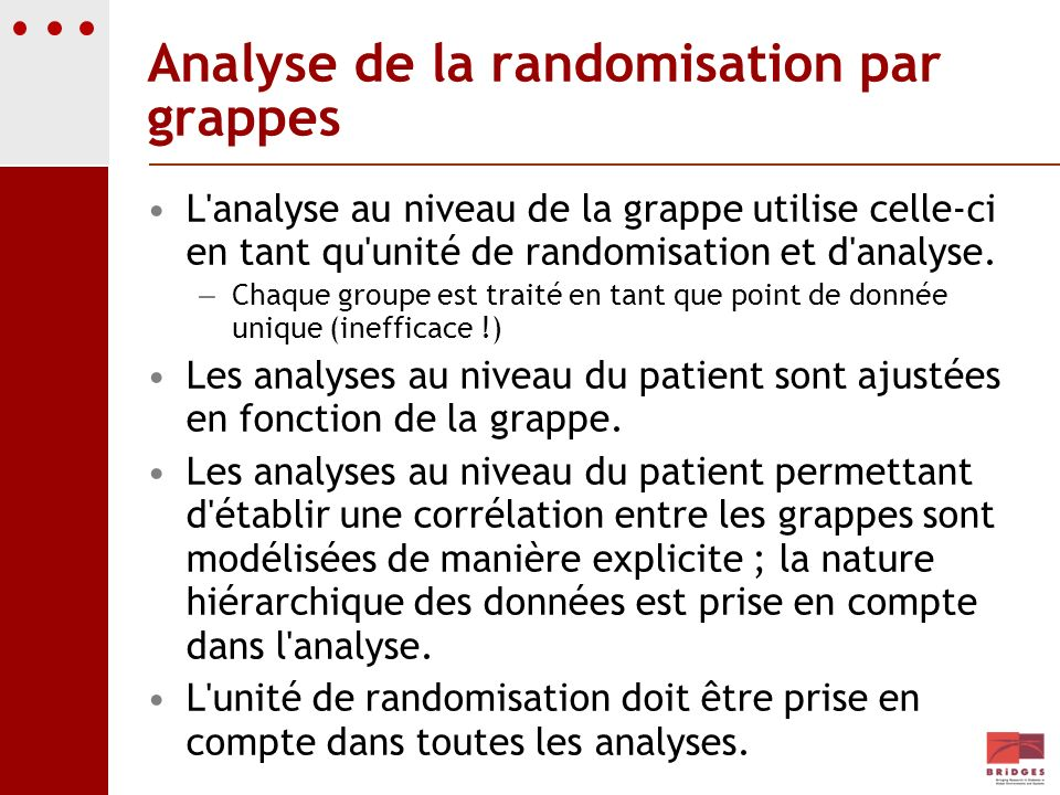 Analyse de la randomisation par grappes