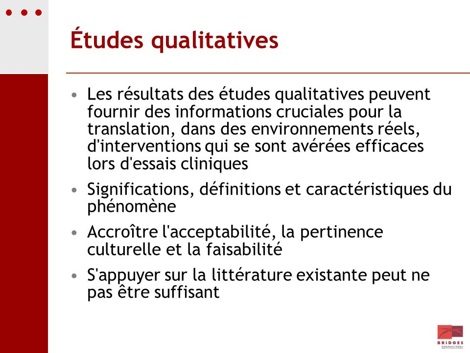 Études qualitatives