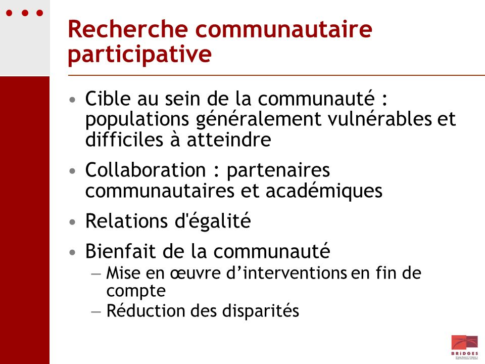 Recherche communautaire participative
