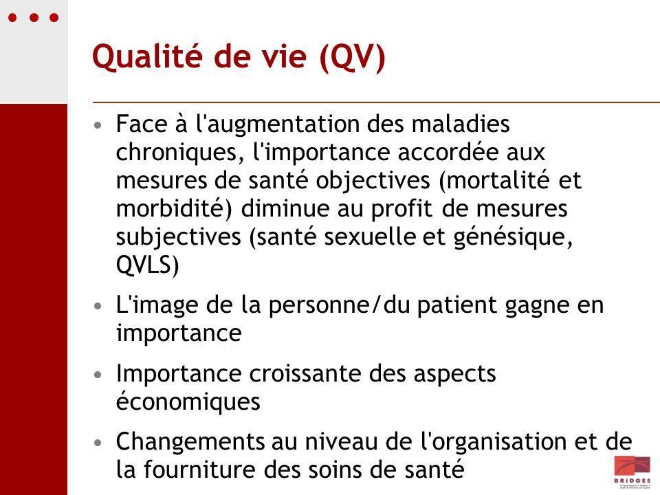 Qualité de vie (QV)