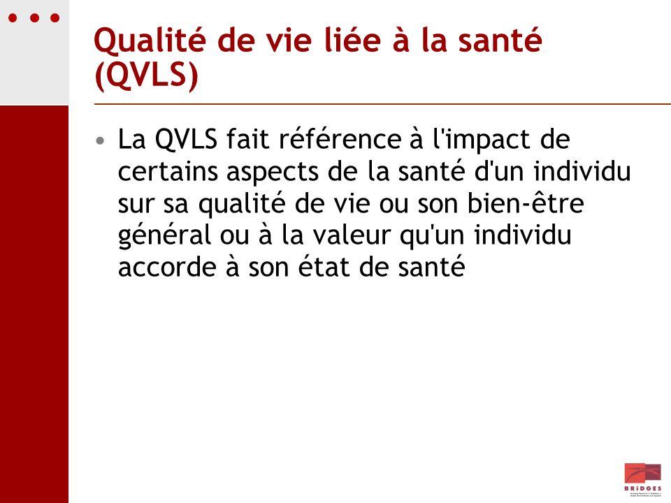 Qualité de vie liée à la santé (QVLS)