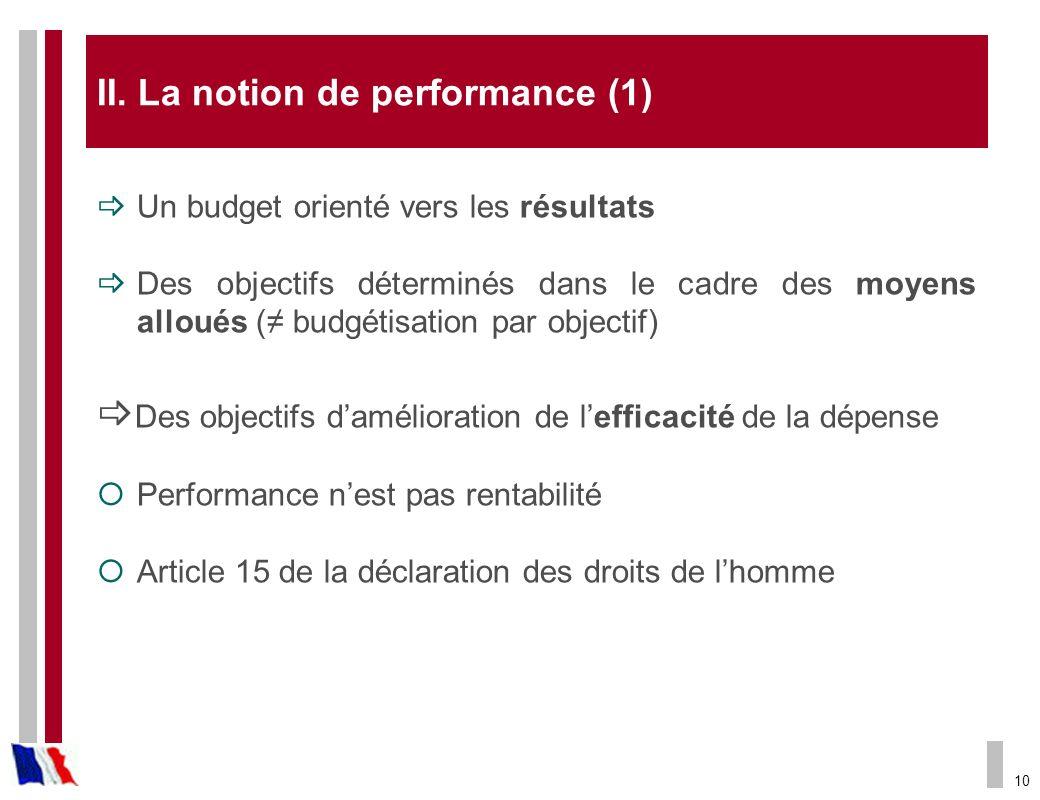 La notion de performance (1)
