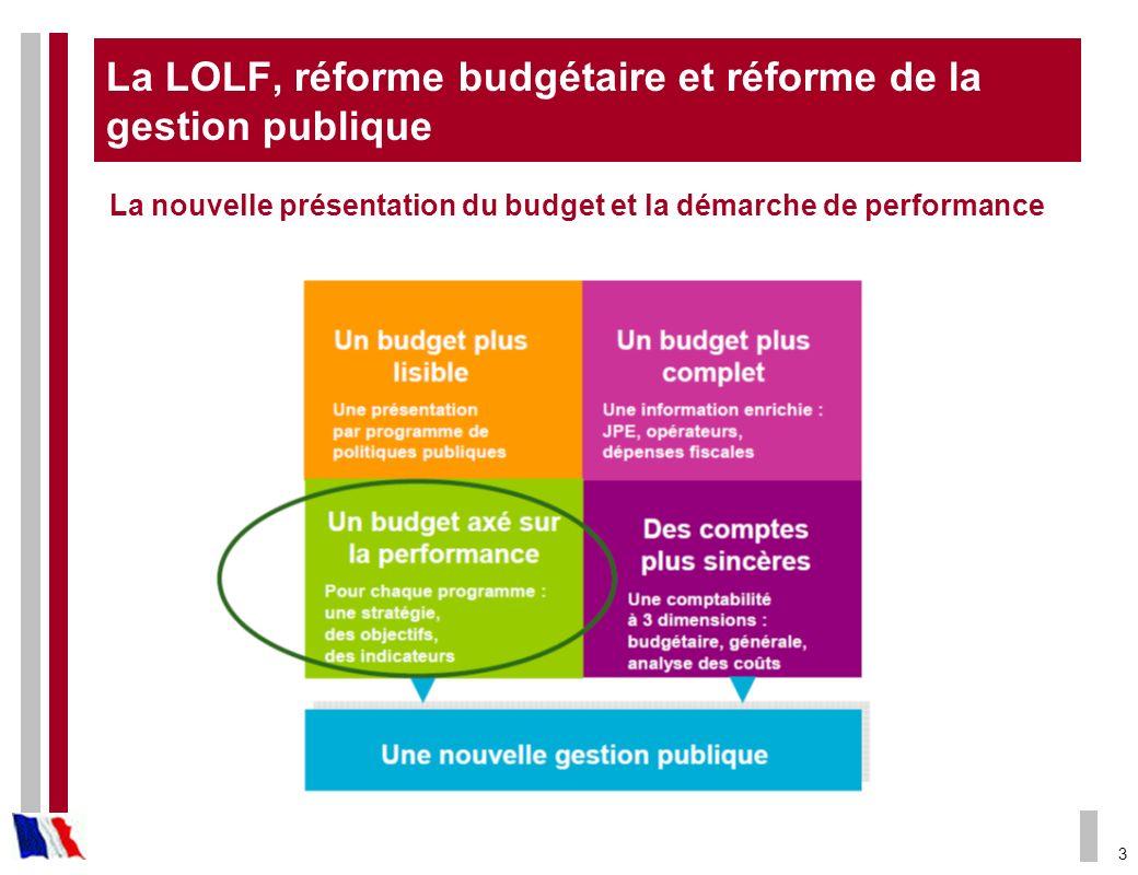 La LOLF, réforme budgétaire et réforme de la gestion publique