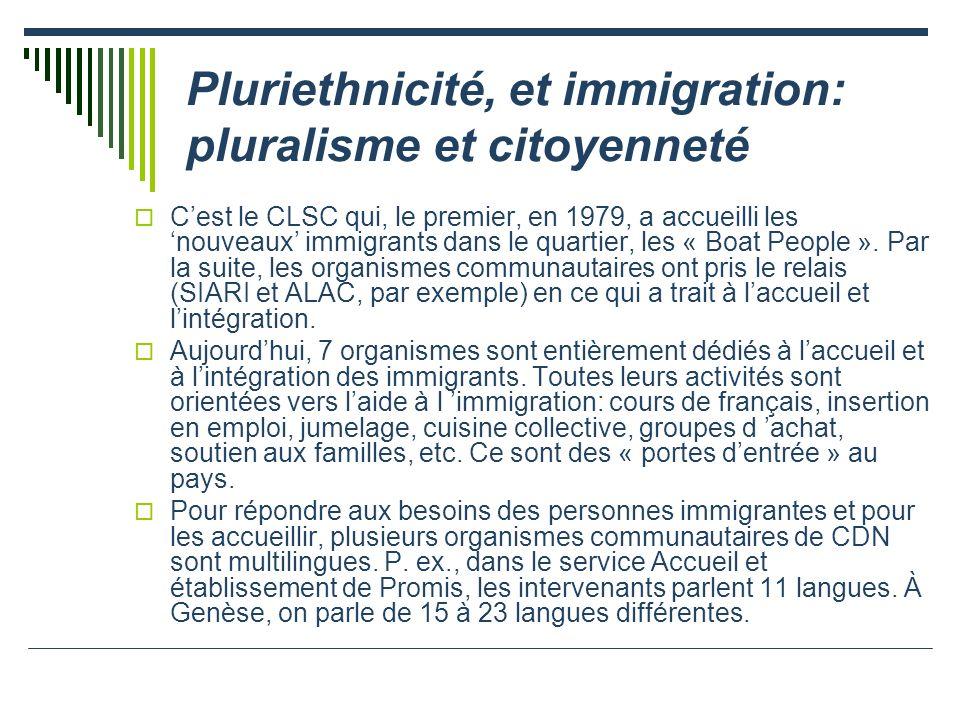 Pluriethnicité, et immigration: pluralisme et citoyenneté
