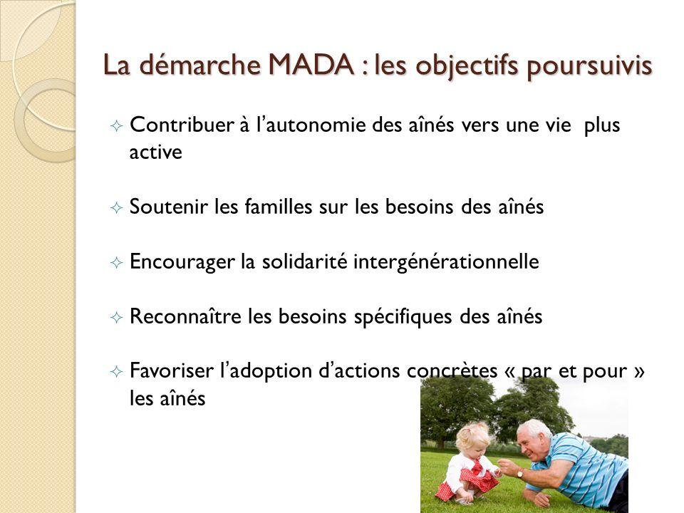 La démarche MADA : les objectifs poursuivis