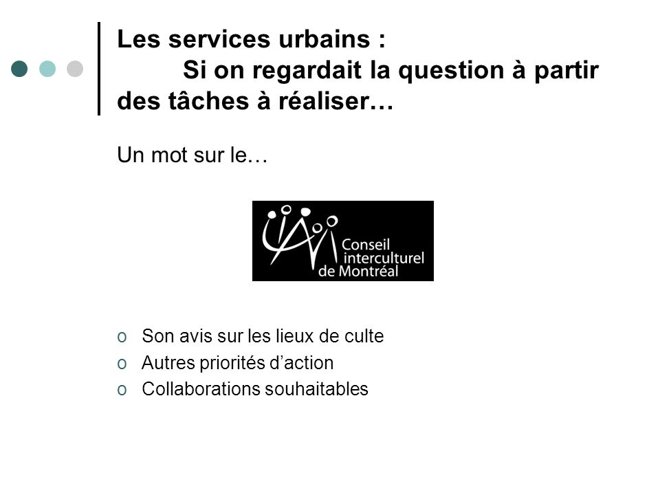 Les services urbains : Si on regardait la question à partir des tâches à réaliser…