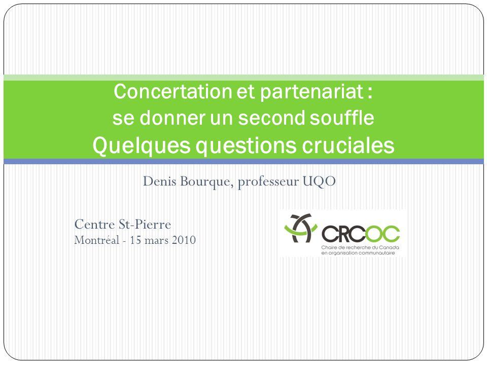 Denis Bourque, professeur UQO Centre St-Pierre Montréal - 15 mars 2010