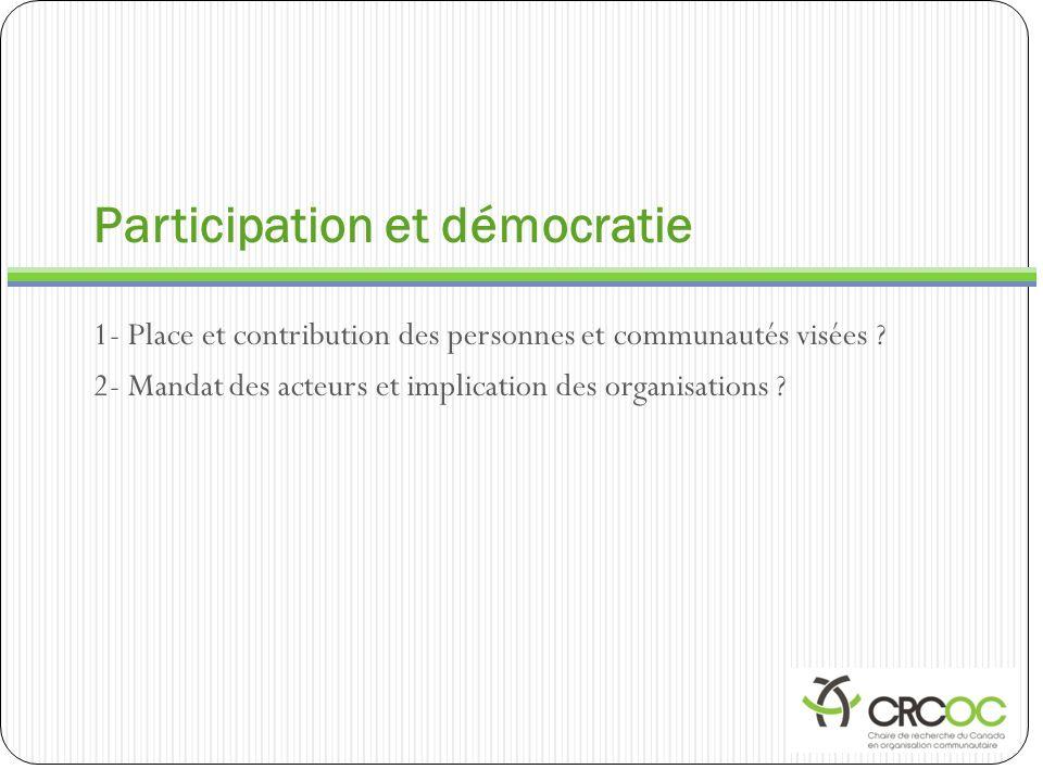 Participation et démocratie