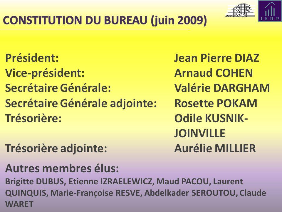 CONSTITUTION DU BUREAU (juin 2009)