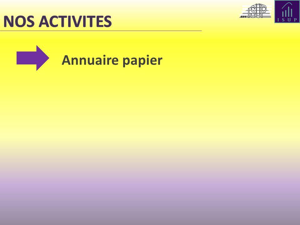 NOS ACTIVITES Annuaire papier