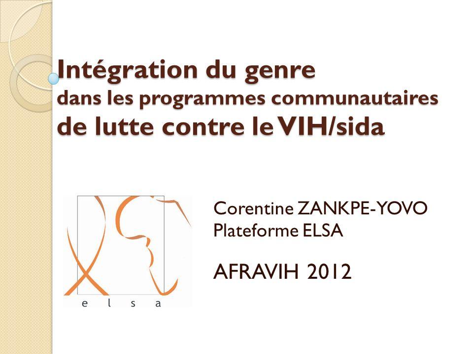 Corentine ZANKPE-YOVO Plateforme ELSA AFRAVIH 2012