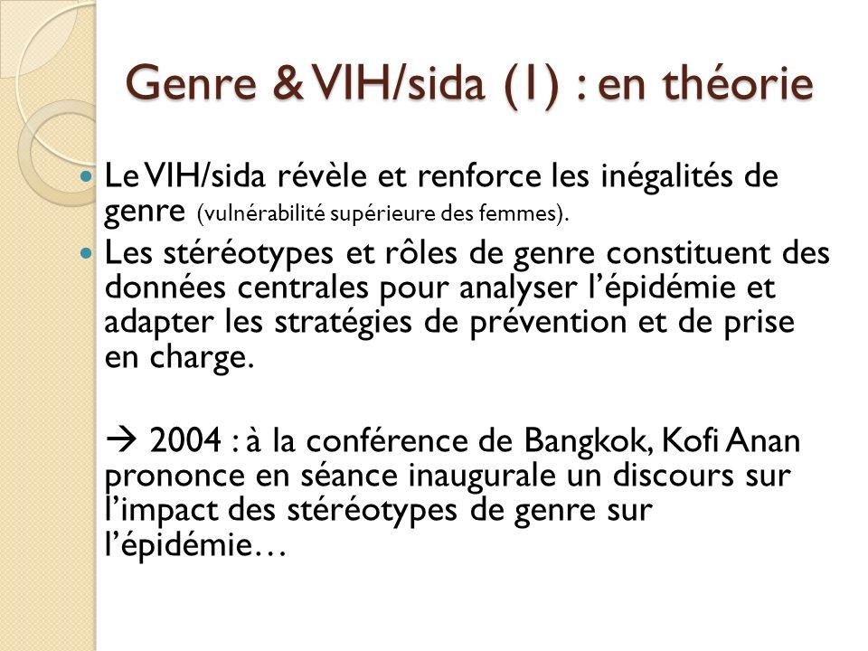 Genre & VIH/sida (1) : en théorie