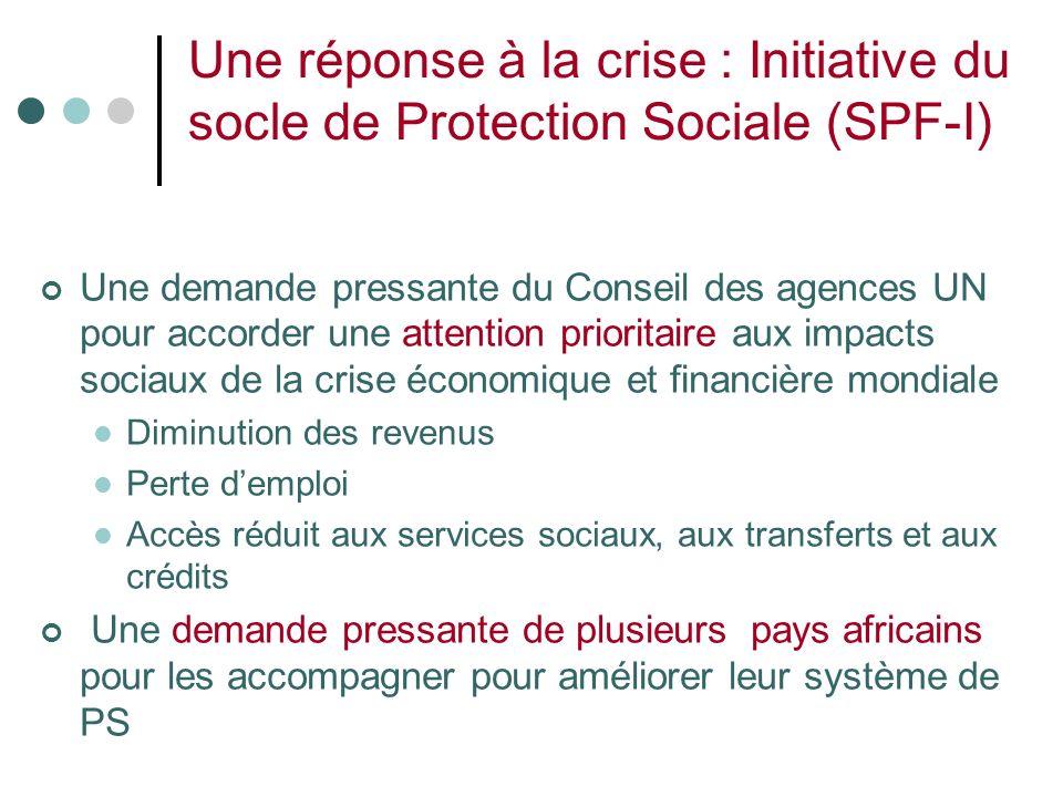 Une réponse à la crise : Initiative du socle de Protection Sociale (SPF-I)