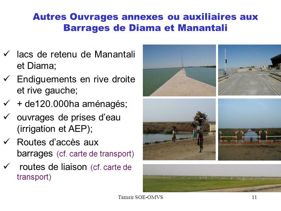 lacs de retenu de Manantali et Diama;