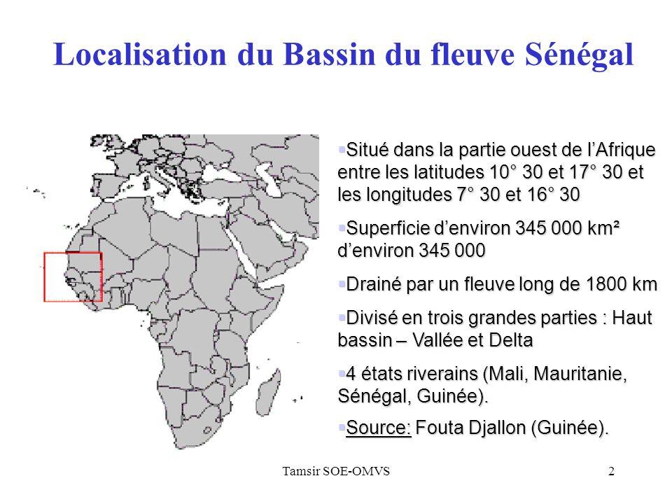 Localisation du Bassin du fleuve Sénégal