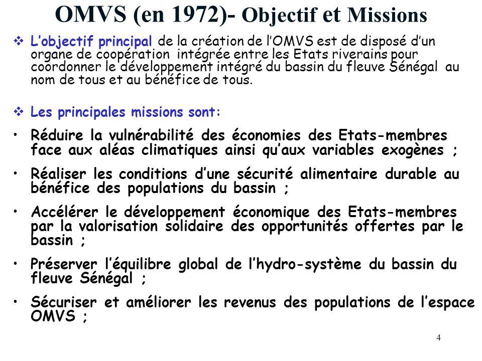 OMVS (en 1972)- Objectif et Missions