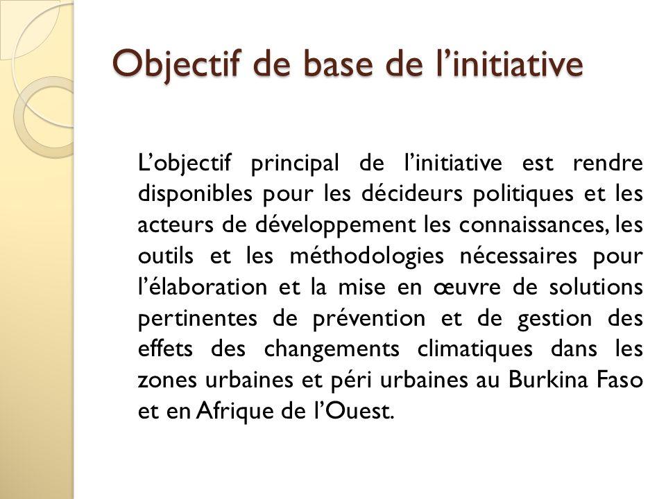 Objectif de base de l'initiative