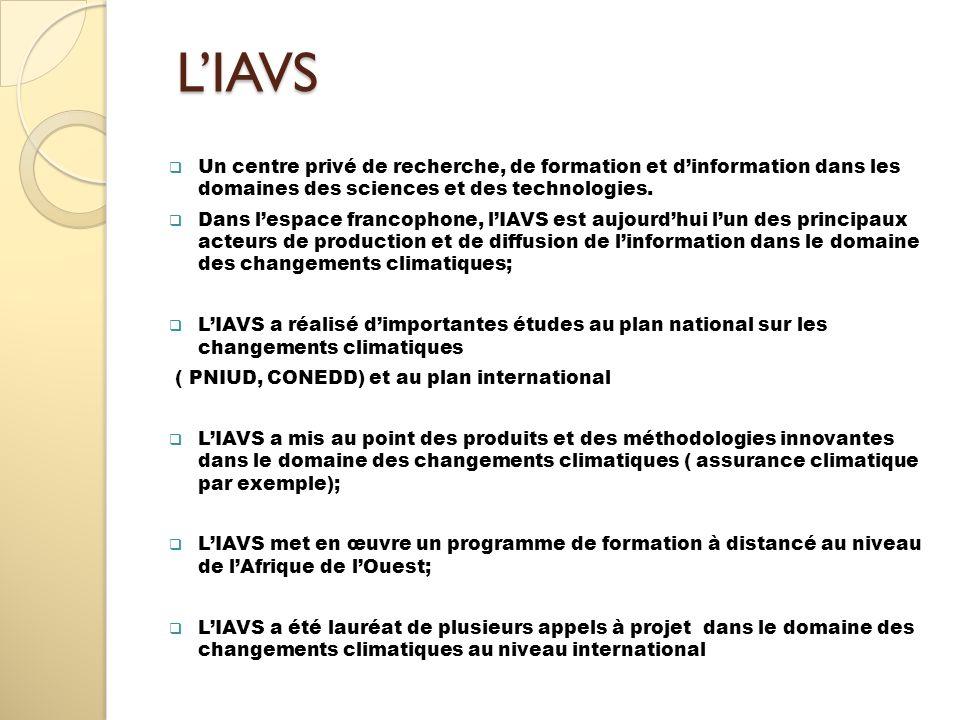 L'IAVSUn centre privé de recherche, de formation et d'information dans les domaines des sciences et des technologies.