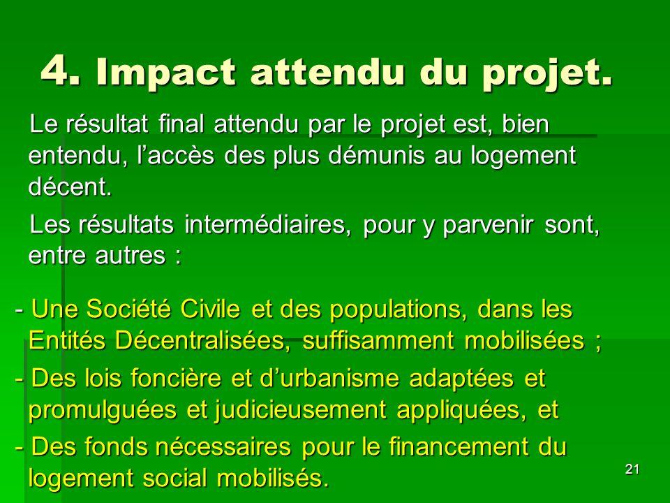 4. Impact attendu du projet.