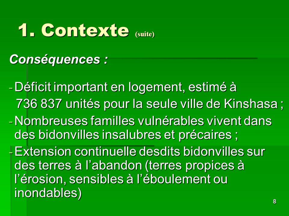 1. Contexte (suite) Conséquences :