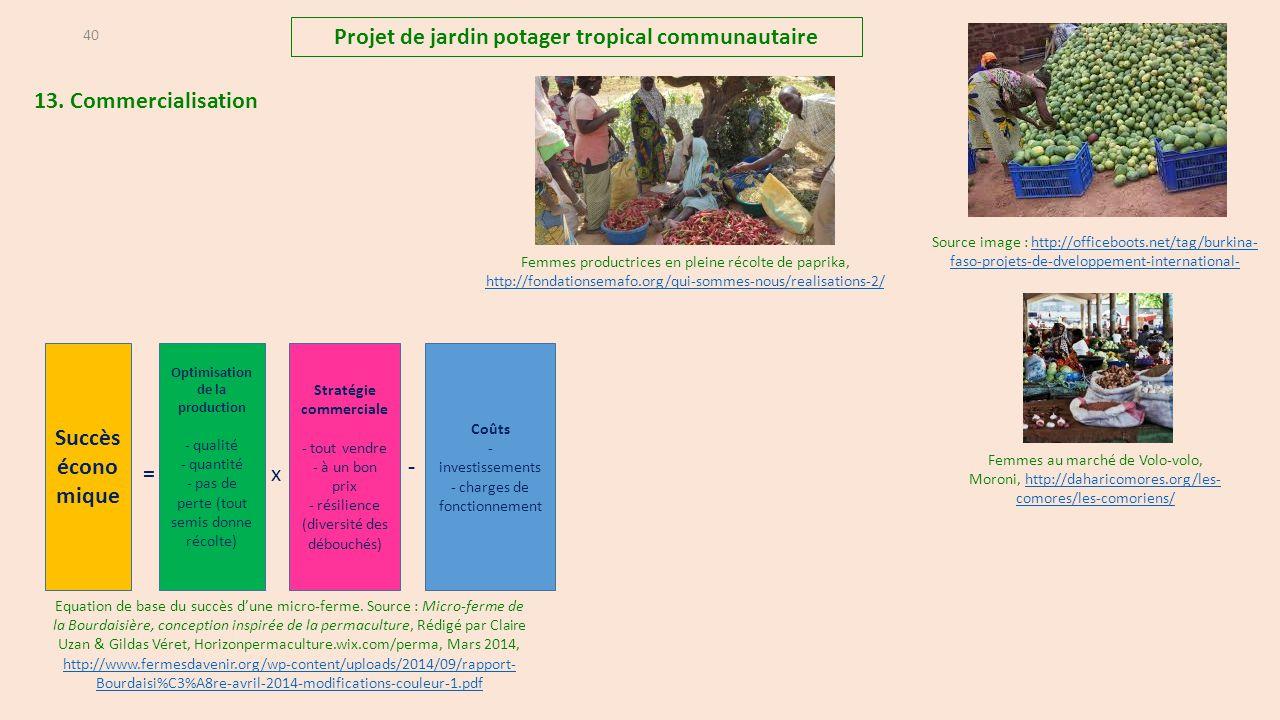 Projet de jardin potager tropical communautaire Succès économique - =
