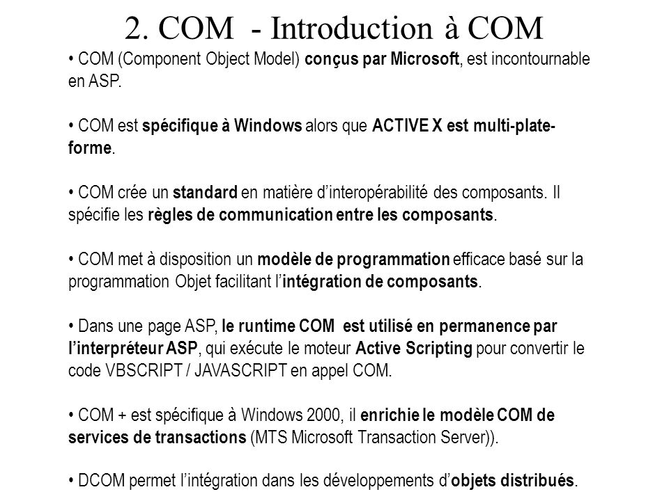 2. COM - Introduction à COM