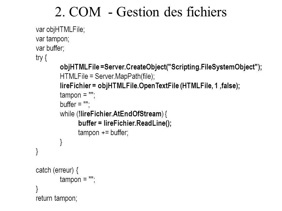 2. COM - Gestion des fichiers