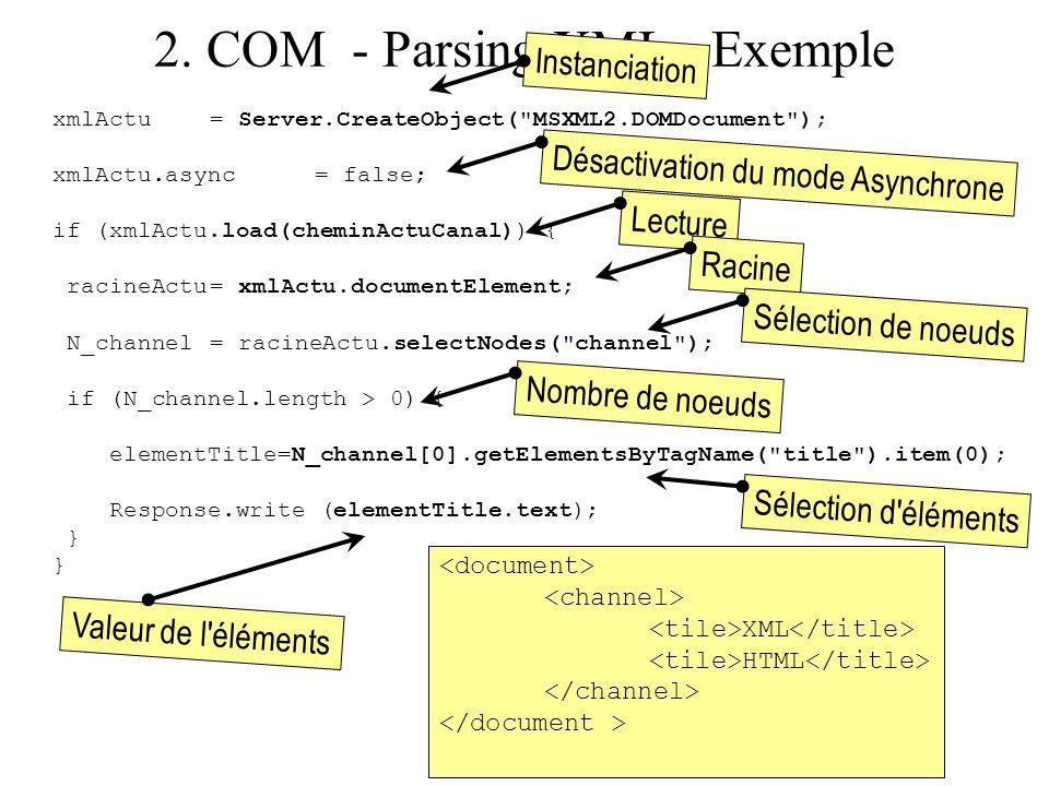2. COM - Parsing XML - Exemple