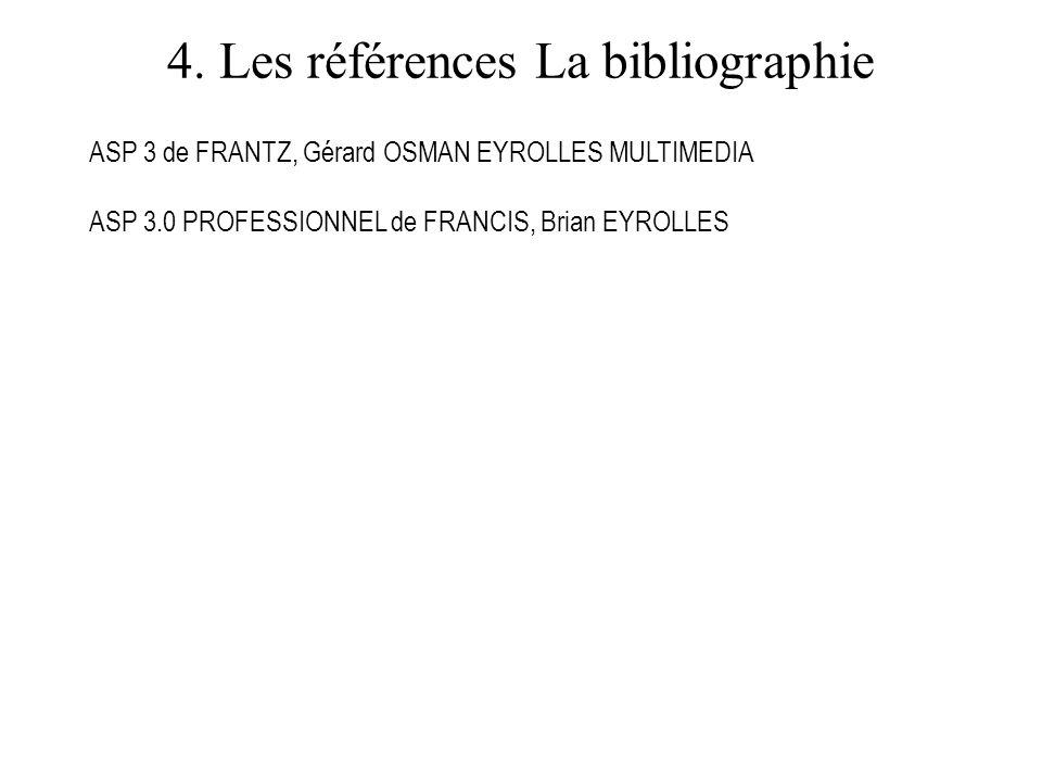 4. Les références La bibliographie