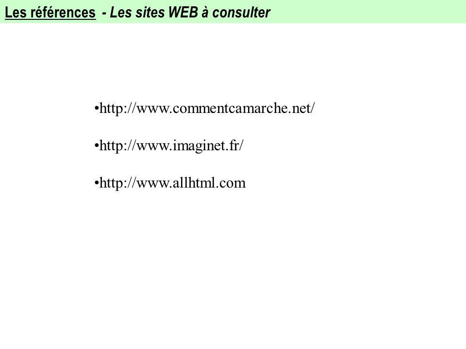 Les références - Les sites WEB à consulter