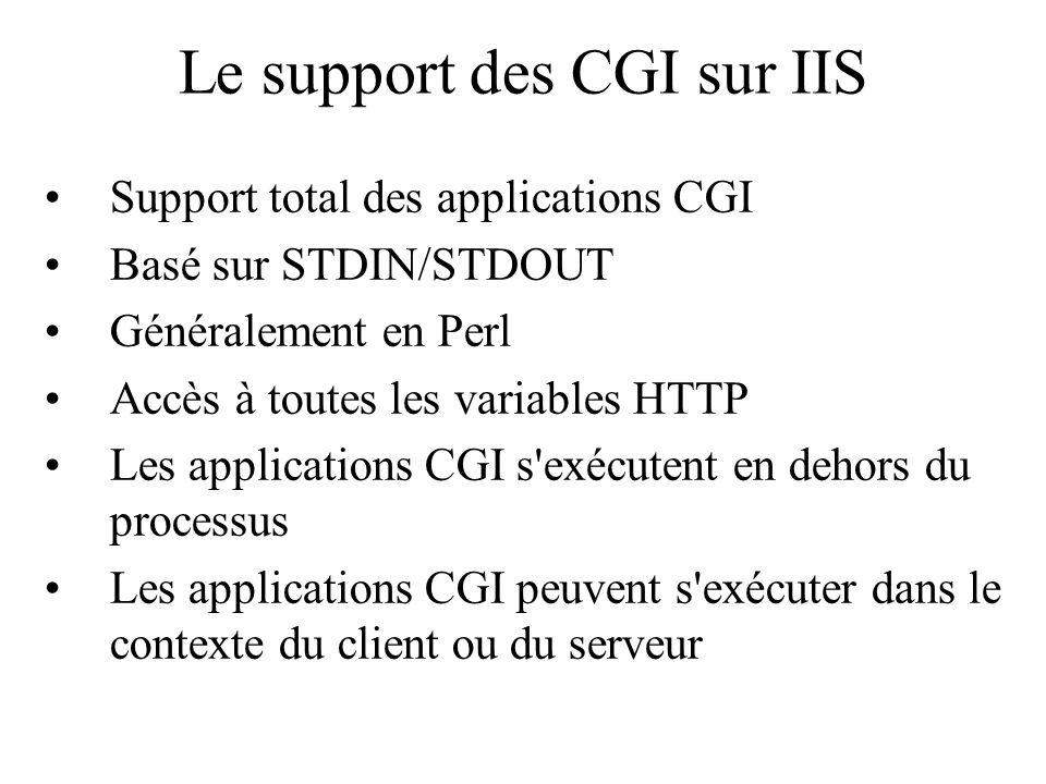 Le support des CGI sur IIS