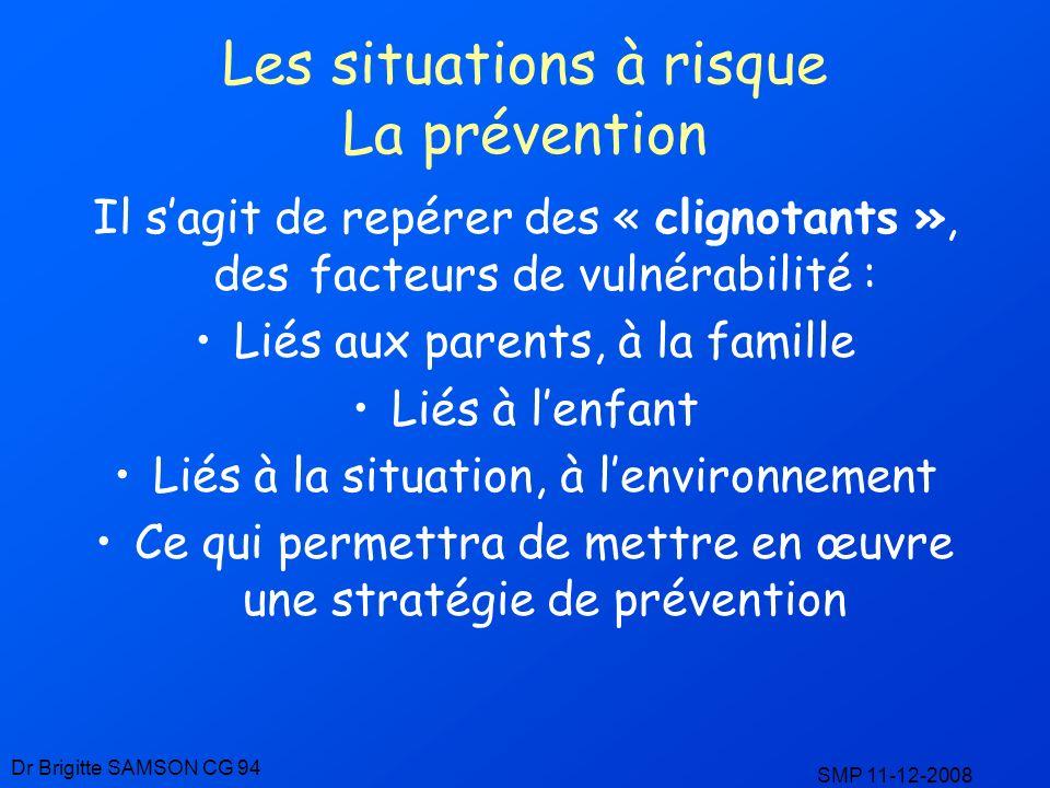 Les situations à risque La prévention