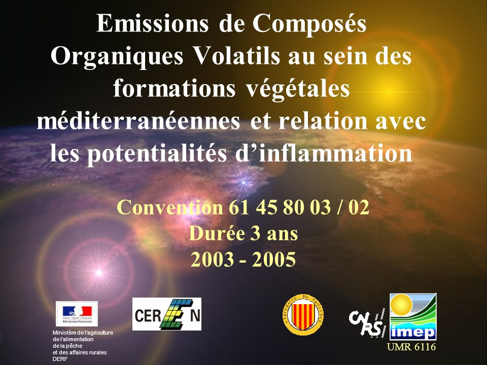 Convention 02 dur e 3 ans emissions de compos s organiques volatils au sein des formations - Composes organiques volatils ...