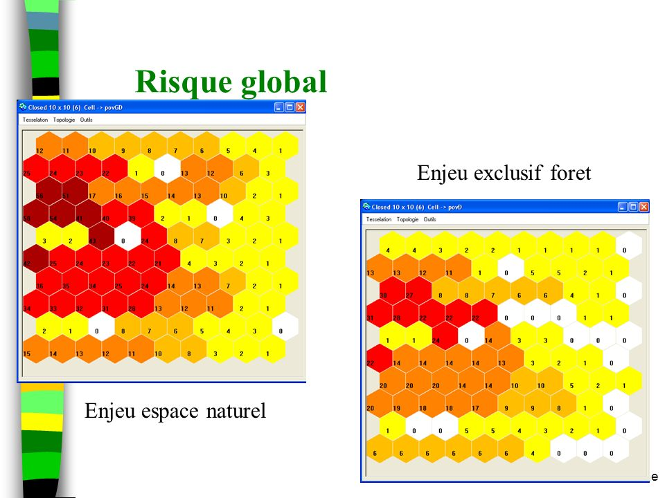 Risque global Enjeu exclusif foret Enjeu espace naturel m.etienne