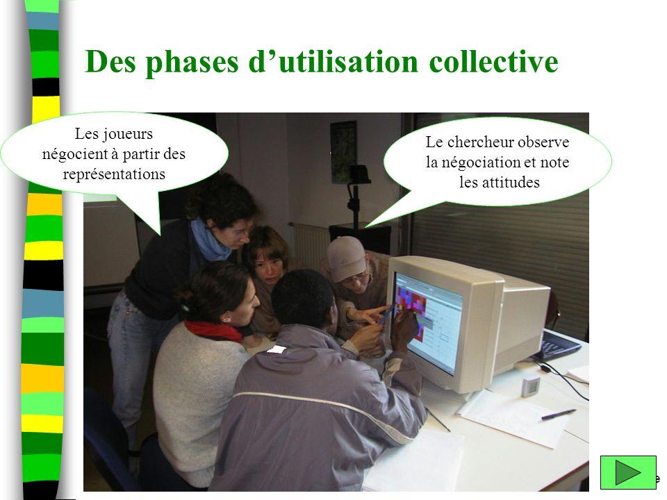 Des phases d'utilisation collective