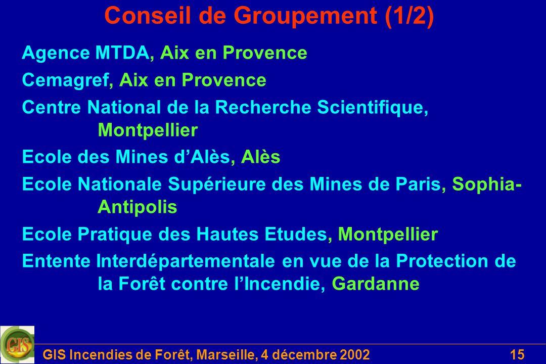 Conseil de Groupement (1/2)