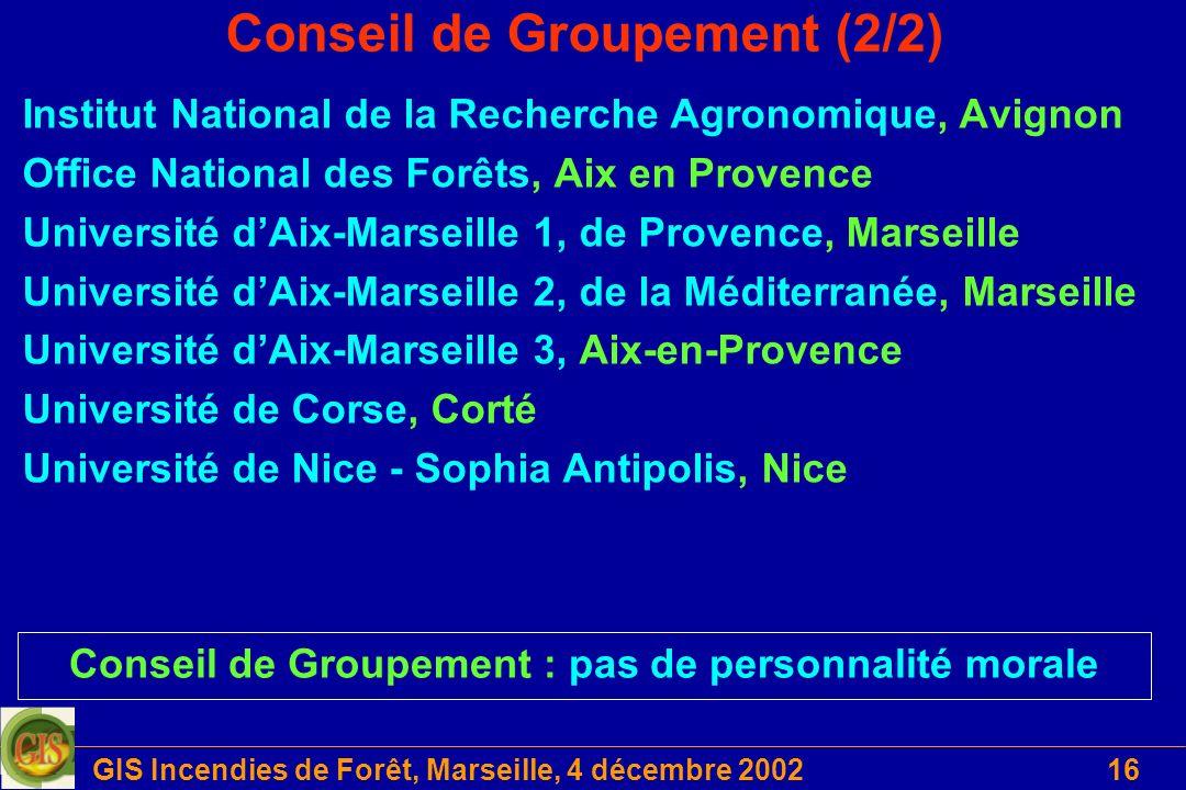 Conseil de Groupement (2/2)